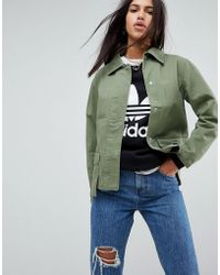 ASOS - Washed Cotton Jacket - Lyst