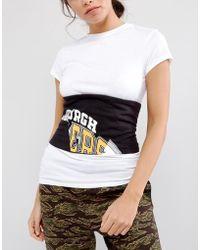 ASOS - Asos Printed Panelled Fabric Corset Belt - Lyst