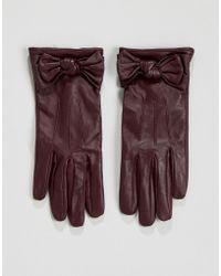 Oasis - Bow Leather Glove - Lyst