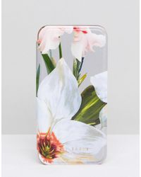 Ted Baker - Iphone Mirror Case In Chatsworth Bloom - Lyst