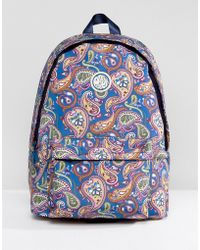Pretty Green - Paisley Logo Backpack - Lyst