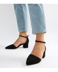 Truffle Collection - Wide Fit Pointed Mid Heels - Lyst