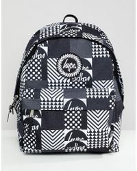 8d2ca8d0abe7 Hype Backpack In Black With Brush Print in Black for Men - Lyst