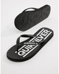 Quiksilver - Java Woodmark Logo Flip Flop In Black - Lyst