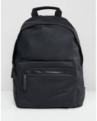 New Look - Faux Leather Backpack In Black - Lyst