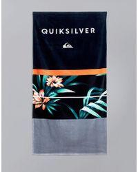 Quiksilver - Freshness Towel In Hawaiian Floral Print - Lyst