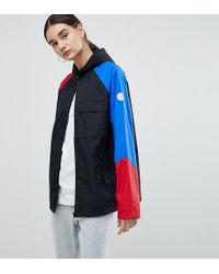 4ecde7a24d0c Converse - Cons Skate Jacket In Black With Colourblock Sleeve - Lyst