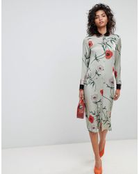 Ghost - Long Sleeve Shirt Dress In Floral Print - Lyst