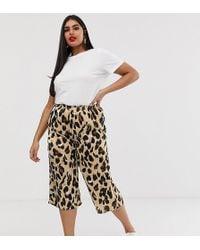 AX Paris - Ax Paris Leopard Print Cropped Trouser - Lyst