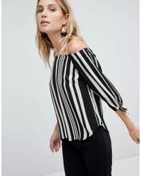 Oasis - Stripe Bardot Top - Lyst