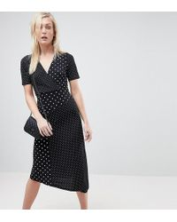 ASOS - Midi Wrap Dress In Mixed Spot - Lyst