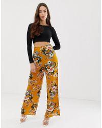 AX Paris - Floral Trousers - Lyst