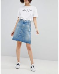 HUGO - 90's Denim Mini Skirt - Lyst