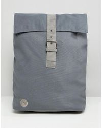 Mi-Pac - Canvas Fold Top Backpack In Charcoal - Lyst