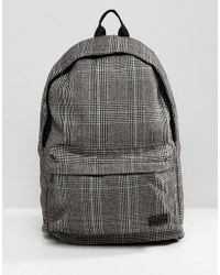 New Look - Backpack In Brown Check - Lyst