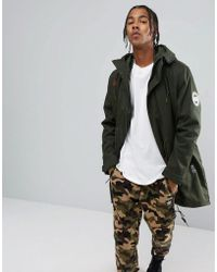 adidas Originals - Utility Parka With Detachable Jacket In Green Br7005 - Lyst