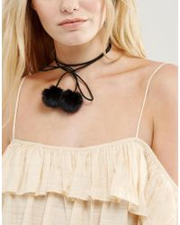New Look - Pom Pom Choker Necklace - Lyst