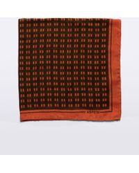 Aspesi - Wool And Silk Scarf - Lyst