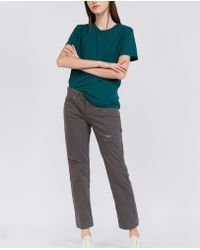 Aspesi - Pure Cotton Trousers - Lyst