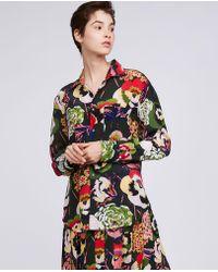 Aspesi - Boyfriend Cut Printed Silk Shirt - Lyst
