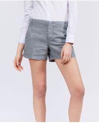 Aspesi - Pure Linen Short Trousers - Lyst