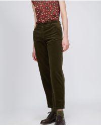 Aspesi - Garment Dyed Corduroy Cotton Trouser - Lyst