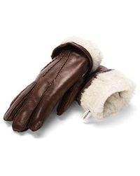 Aspinal - Sheepskin Lined Leather Gloves - Lyst