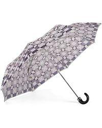 Aspinal of London - Folding Umbrella - Marylebone Compact Umbrella In Monochrome - Lyst