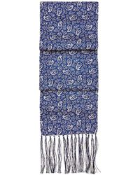 Aspinal of London - Men's Paisley Silk Scarf - Lyst