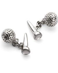 Aspinal of London - Sterling Silver Golf Ball & Tee Cufflinks - Lyst