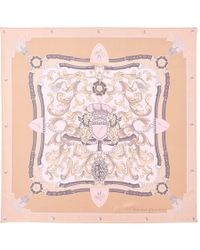 Aspinal of London - Ladies Stylish Signature Shield Silk Scarf - Lyst