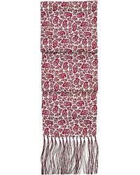 Aspinal - Paisley Silk Scarf With Tassels - Lyst