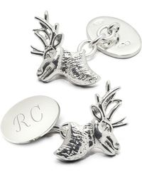 Aspinal - Personalised Sterling Silver Sporting Cufflinks - Lyst