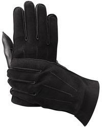 Aspinal - Shadow Suede & Leather Gloves - Lyst
