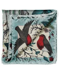 Aspinal - The Robin Silk Twill Handkerchief - Lyst