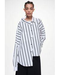 Ji Oh - Unbalanced Loose Neck Shirt - Lyst