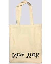 Assembly - Cotton Logo Tote Ny/la - Natural - Lyst