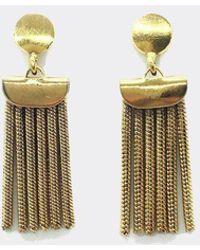 Jorge Morales - Brass Curtain Earrings - Lyst