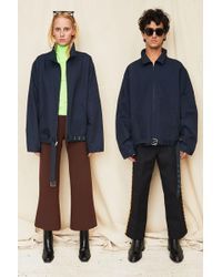 Assembly - Navy Belted Zip Coat - Lyst