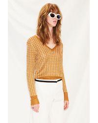 Happy Sheep - Lurex V-neck Sweater - Lyst