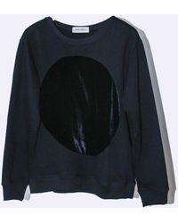 Correll Correll - Cotton Velvet Circle Sweatshirt - Lyst