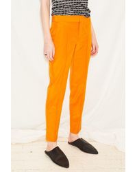 Assembly Orange Cotton Pintuck Pant