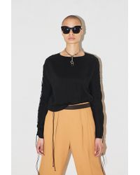 Assembly - Dolman L/s Crewneck With Ties - Lyst