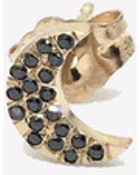Bianca Pratt - Gold Moon Earring With Diamonds - Lyst