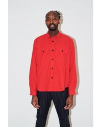 Assembly - Fleece Poet Shirt - Red - Lyst