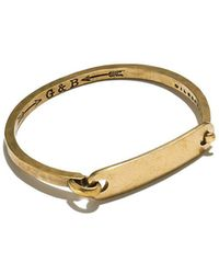 Giles & Brother - Brass Id Tag With Hinge Cuff - Lyst