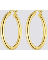 Nina Kastens Jewelry - Large Gold Hoops - Lyst