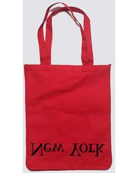 Assembly - Cotton Logo Tote Ny/la - Red - Lyst