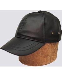 Assembly - Black Leather Baseball Cap - Lyst