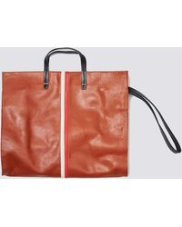 Clare V. - Cognac Leather Simple Tote - Lyst